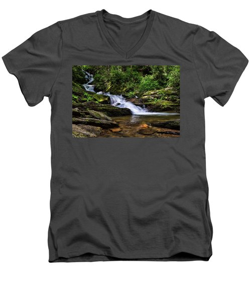 Roaring Fork Waterfall Men's V-Neck T-Shirt
