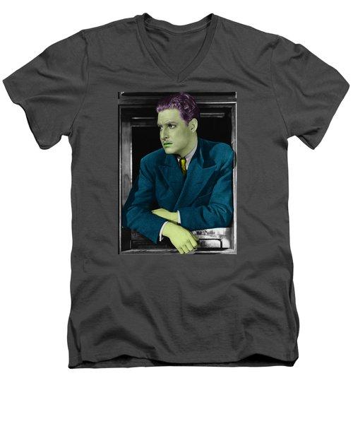 Robert Donat Men's V-Neck T-Shirt by Emme Pons