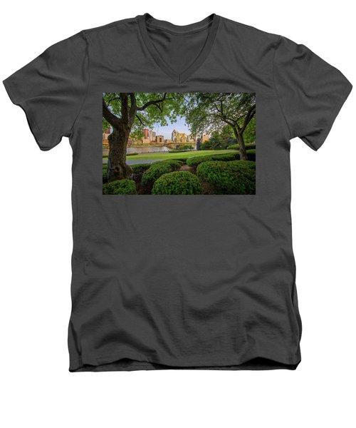 Roberto Clemente Bridge Men's V-Neck T-Shirt by Emmanuel Panagiotakis