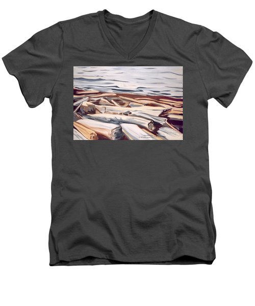 Roberts Creek, Sunshine Coast, B.c. Men's V-Neck T-Shirt