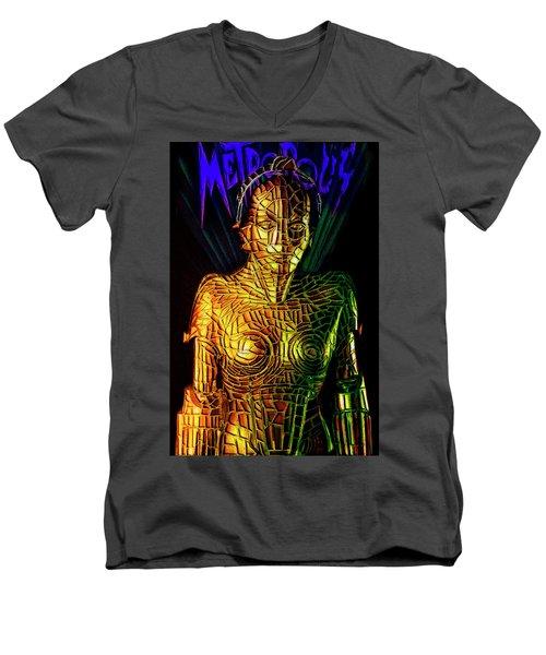 Robot Of Metropolis Men's V-Neck T-Shirt