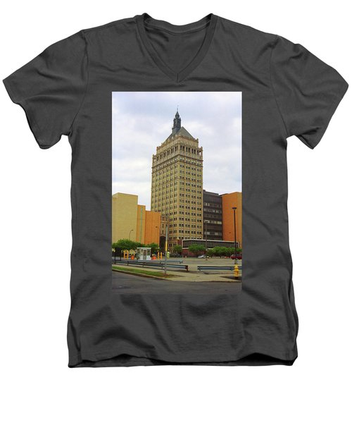 Rochester, Ny - Kodak Building 2005 Men's V-Neck T-Shirt by Frank Romeo