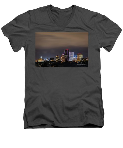 Rochester, Ny Lit Men's V-Neck T-Shirt