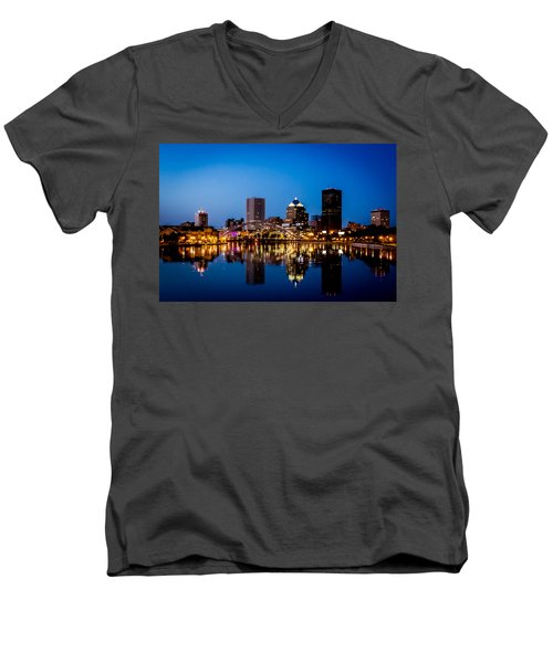 Rochester Reflections Men's V-Neck T-Shirt by Sara Frank