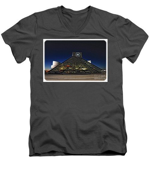 Rock And Roll Hall Of Fame - Cleveland Ohio - 5 Men's V-Neck T-Shirt