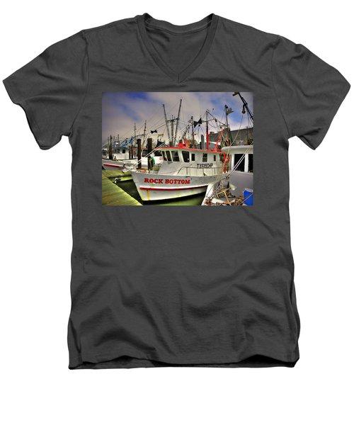 Men's V-Neck T-Shirt featuring the photograph Rock Bottom by Savannah Gibbs