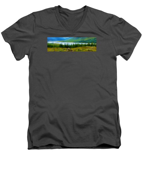 Rock Cairns In Scotland Men's V-Neck T-Shirt by Judi Bagwell