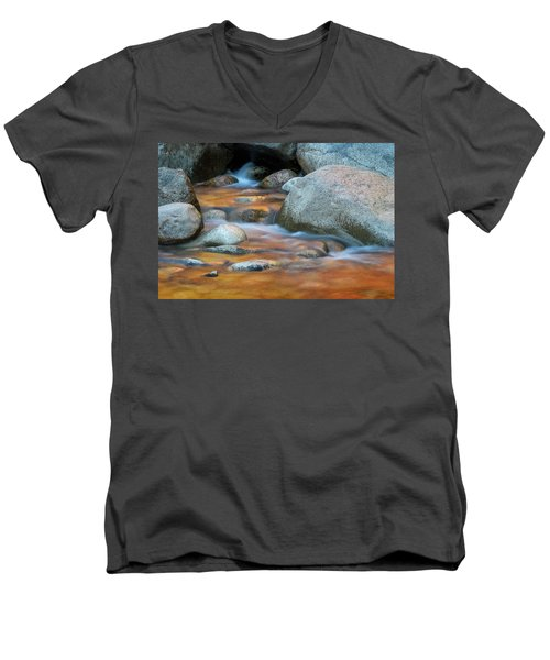 Rock Cave Reflection Nh Men's V-Neck T-Shirt