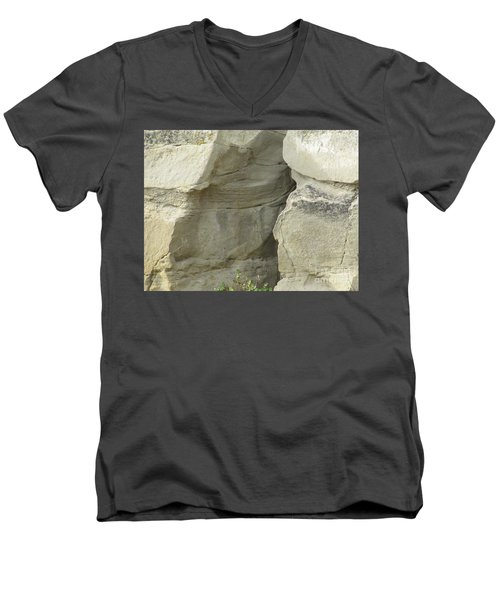 Rock Cleavage Men's V-Neck T-Shirt