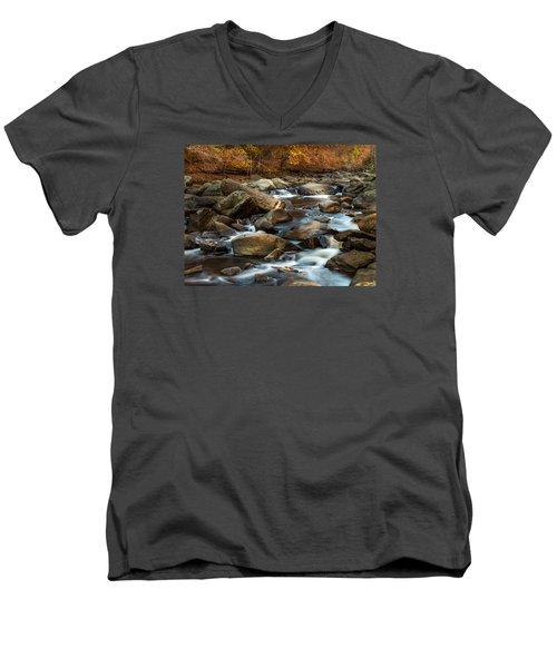 Rock Creek Men's V-Neck T-Shirt by Ed Clark