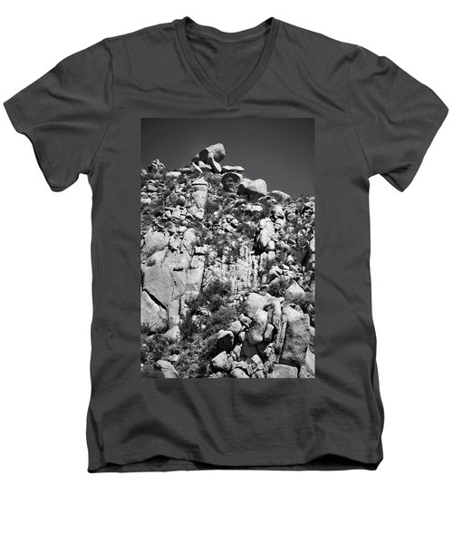 Rock Face Sandia Mountain Men's V-Neck T-Shirt