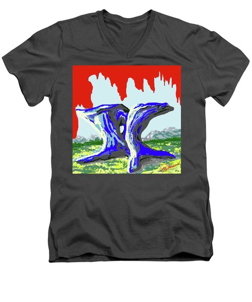 Rock Formations Men's V-Neck T-Shirt
