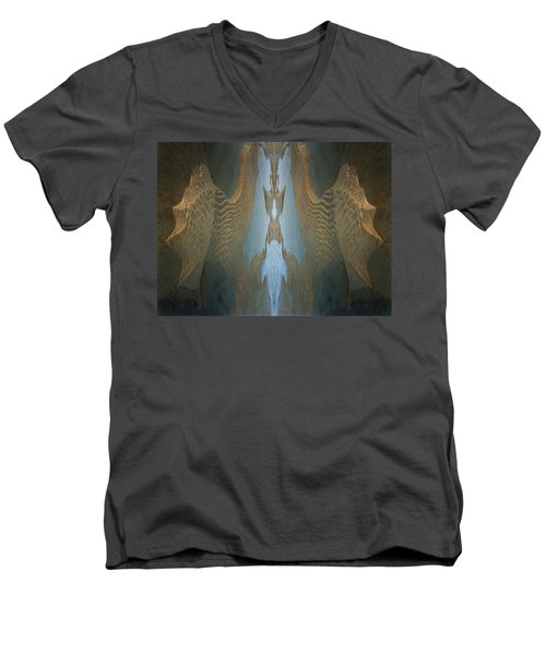 Men's V-Neck T-Shirt featuring the photograph Rock Gods Seabird Of Old Orchard by Nancy Griswold