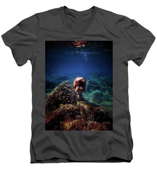 Rock Mermaid Men's V-Neck T-Shirt