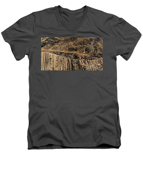 Rock Mountain Rock Art By Kaylyn Franks Men's V-Neck T-Shirt