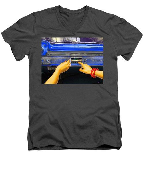 Rock N Roll Radio Men's V-Neck T-Shirt
