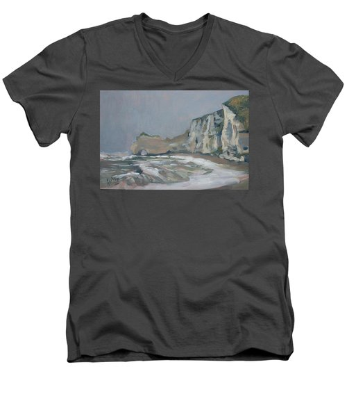 Rock Of Amont Etretat After The Rain Men's V-Neck T-Shirt