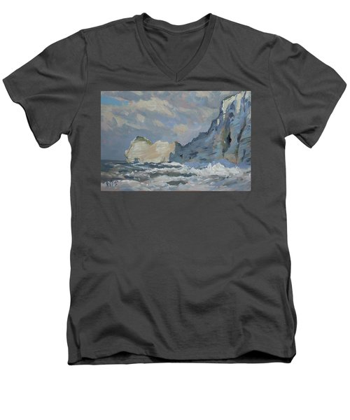 Rock Of Amont Etretat Men's V-Neck T-Shirt