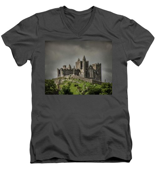 Rock Of Cashel Men's V-Neck T-Shirt