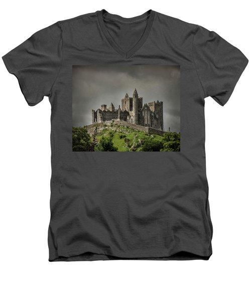 Rock Of Cashel Men's V-Neck T-Shirt
