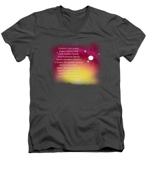 Rock - Paper - Scissors - Lizard - Spock Men's V-Neck T-Shirt by Paulette B Wright