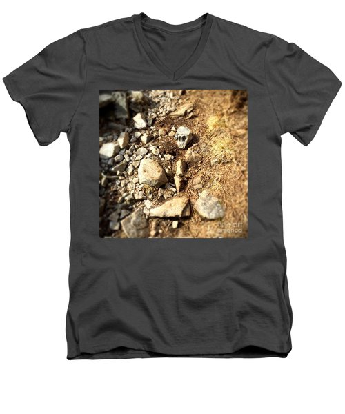 Rock Skull Men's V-Neck T-Shirt