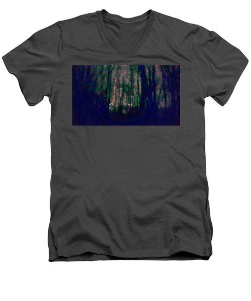 Rockets In The Night Men's V-Neck T-Shirt