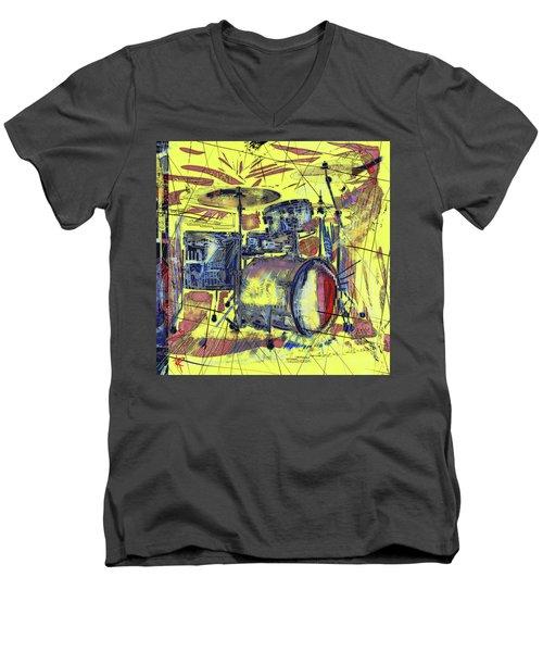 Rockin Drums Men's V-Neck T-Shirt