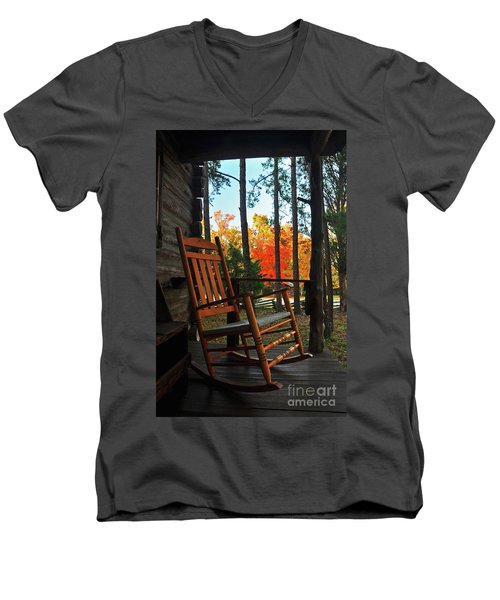 Rocking In Fall Men's V-Neck T-Shirt