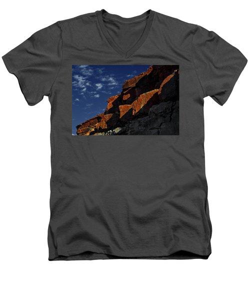 Sky And Rocks Men's V-Neck T-Shirt by Alex Galkin