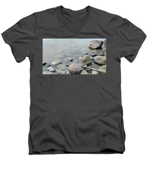 Rocks And Water Men's V-Neck T-Shirt