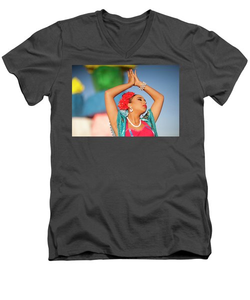 Cathy Rocks Men's V-Neck T-Shirt