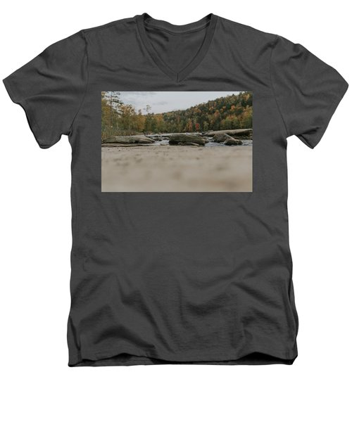 Rocks On Cumberland River Men's V-Neck T-Shirt