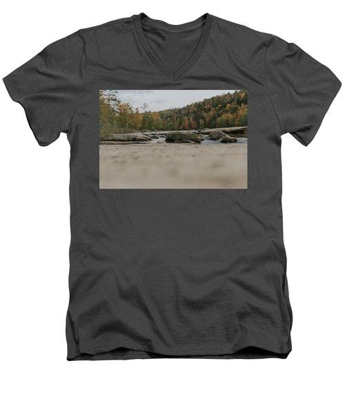 Rocks On Cumberland River Men's V-Neck T-Shirt