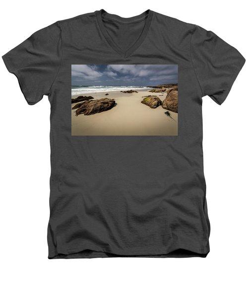 Rocks On The Shore Men's V-Neck T-Shirt