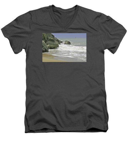 Rocks, Sand And Surf Men's V-Neck T-Shirt