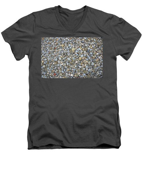 Men's V-Neck T-Shirt featuring the photograph Rocky Beach 1 by Nicola Nobile