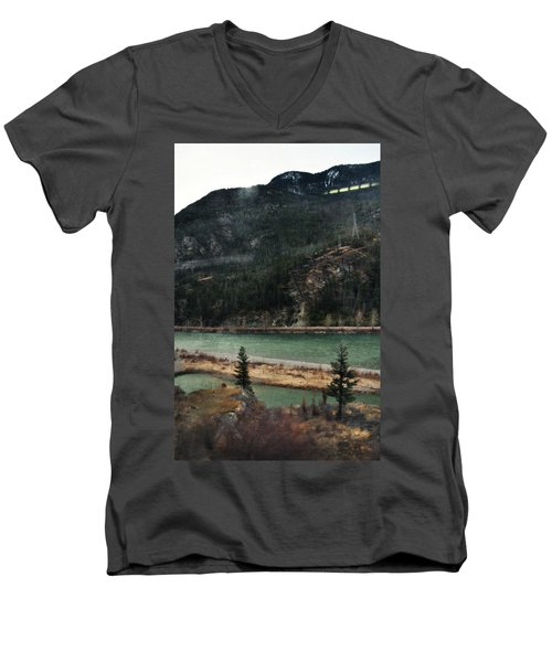 Rocky Mountain Foothills Montana Men's V-Neck T-Shirt by Kyle Hanson