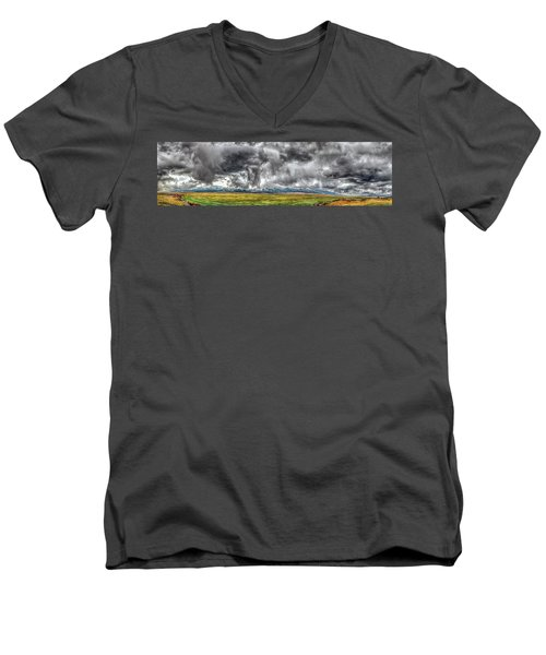 Rocky Mountain Panorama Hdr Men's V-Neck T-Shirt
