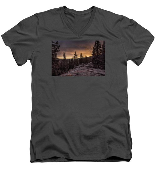 Rocky Mountain Skyfire Men's V-Neck T-Shirt
