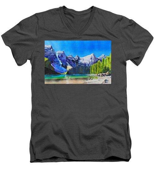 Rocky Mountain Sunrise Men's V-Neck T-Shirt