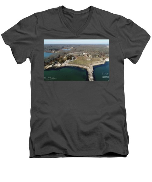 Rocky Neck Paviliion Men's V-Neck T-Shirt