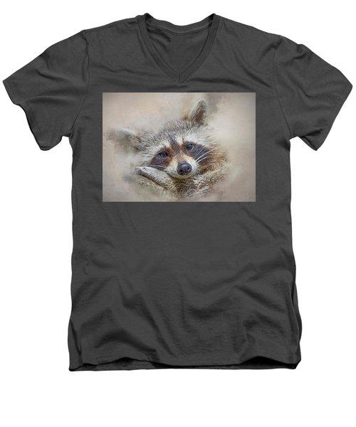 Rocky Raccoon Men's V-Neck T-Shirt