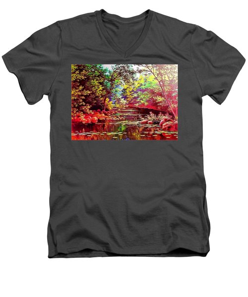 Rocky Rainbow River Men's V-Neck T-Shirt