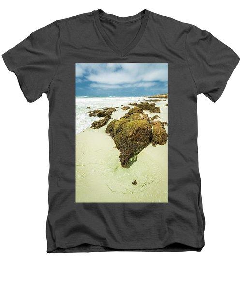 Rocky Shoreline Men's V-Neck T-Shirt