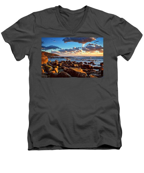 Rocky Surf Conditions Men's V-Neck T-Shirt