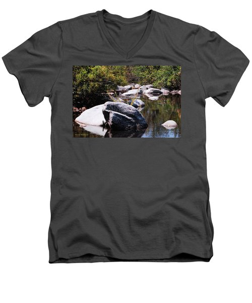 Rocky World Men's V-Neck T-Shirt by Donna Blackhall