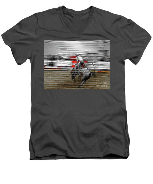 Rodeo Abstract V Men's V-Neck T-Shirt