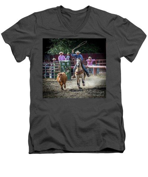 Cowboy In Action#1 Men's V-Neck T-Shirt