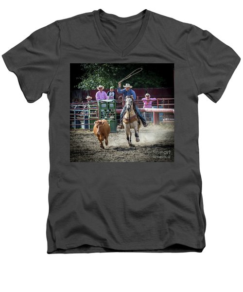 Cowboy In Action#1 Men's V-Neck T-Shirt